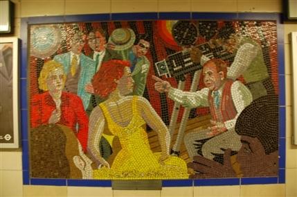 Hitchcock mosaic at Leytonstone station
