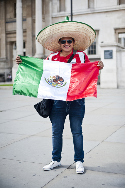 Raul Zepeda from Mexico DF at Trafalgar Square