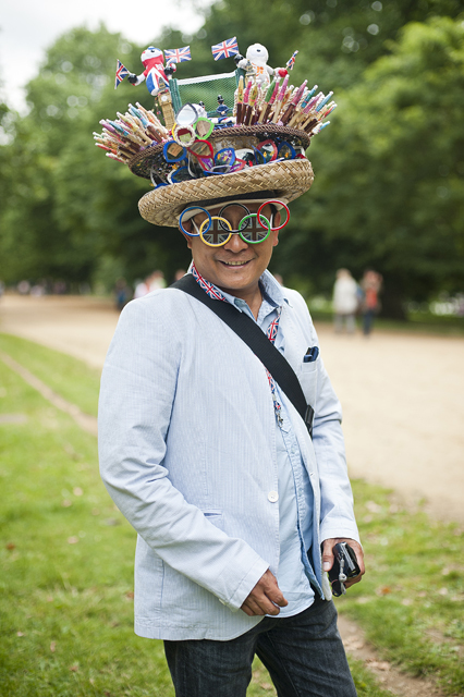 Chito Salarza also known as the hatman of London at Hyde Park