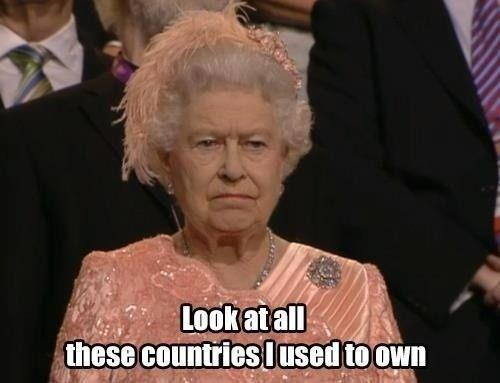 The Queen seemed not amused during the Opening Ceremony. Photoshop explained it all.