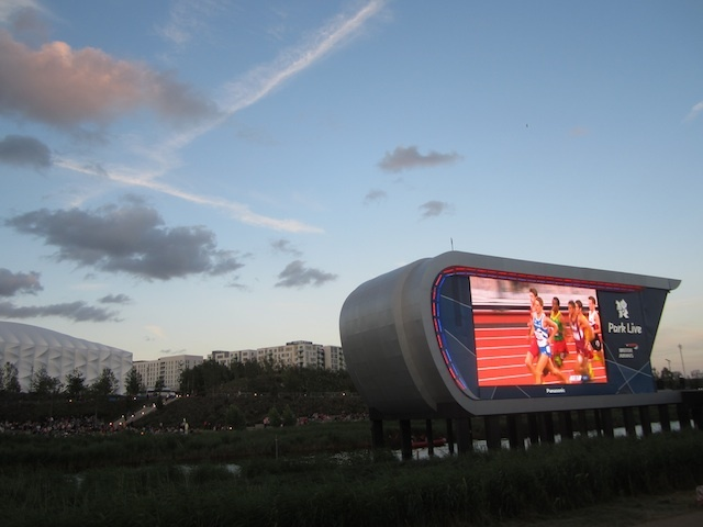 Things To Do In The Olympic Park: Watch The Big Screens