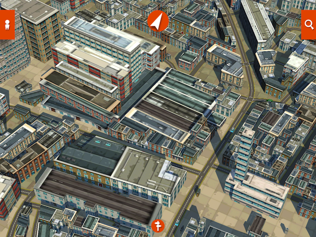 Spitalfields. Note the suspect rendering of Christ Church, bottom left. Extreme redevelopment.