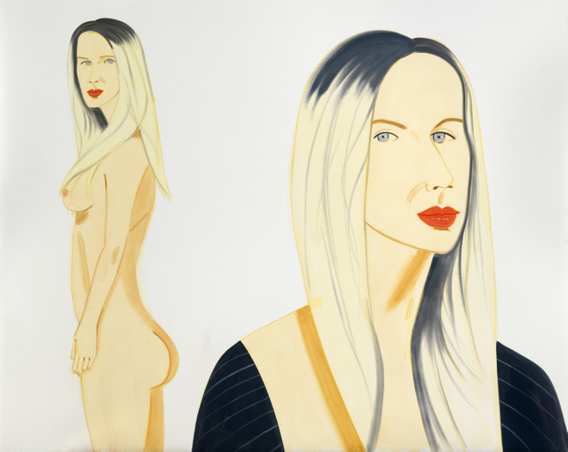 Alex Katz ʻChris'. © Alex Katz/Licensed by VAGA, New York, NY. Courtesy, Timothy Taylor Gallery, London