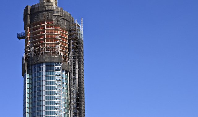 The St George Tower grows in Vauxhall, by Prad Patel