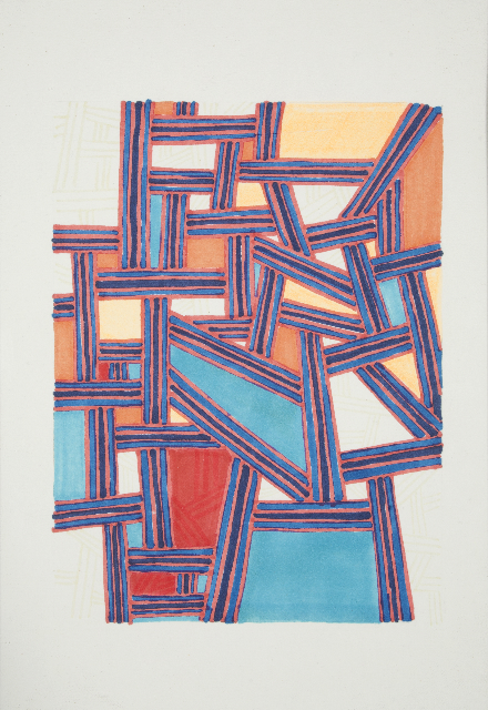 Julia Vogl, Destination - red, turquoise & orange. Courtesy Jerwood drawing prize