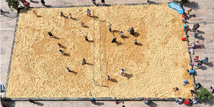 Preview: Beach Volleyball At Broadgate Circus