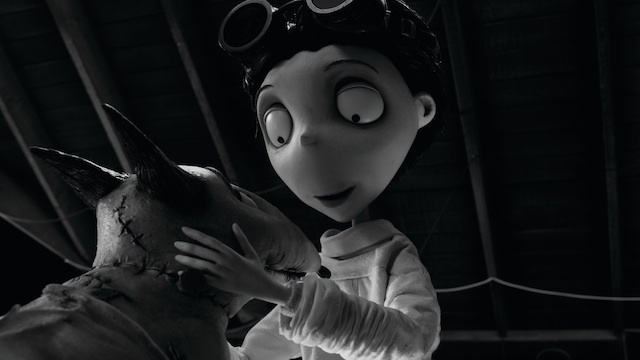 """FRANKENWEENIE"".Victor happily examines his beloved dog Sparky after he successfully brings him back to life in ""Frankenweenie,"" a new stop-motion, animated comedy from the creative genius of director Tim Burton.  Presented by Walt Disney Pictures, ""Frankenweenie"" opens in theaters on October 5, 2012..©2011 Disney Enterprises. All Rights Reserved."