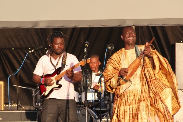 Malian ngoni virtuoso Bassekou Kouyate gets into the spirit