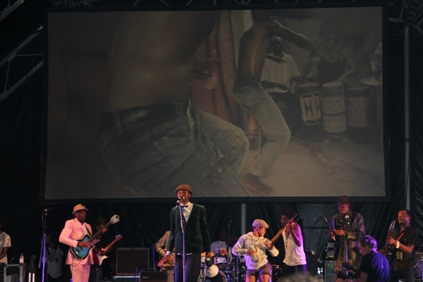 Congolese band Baloji with accompanying film