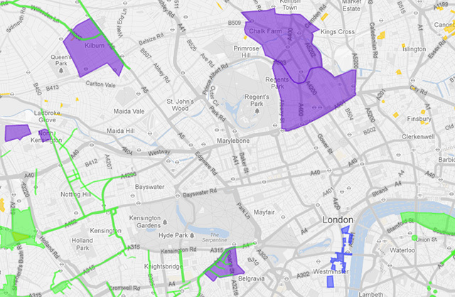 Mapped: London's Banned Zones