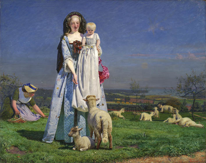 Ford Madox Brown, The Pretty Baa-Lambs 1851-9. Birmingham Museums and Art Gallery, purchased 1956