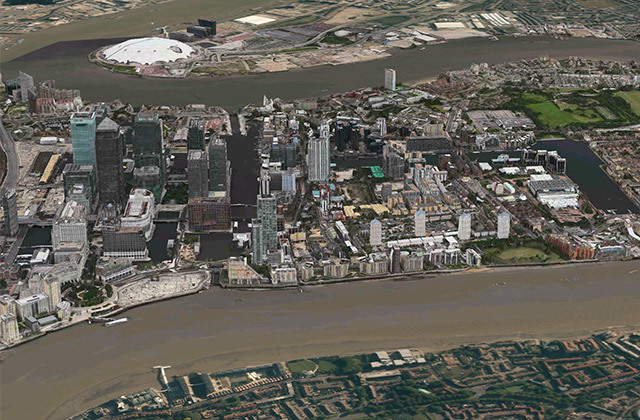 The Isle of Dogs and Greenwich Peninsula