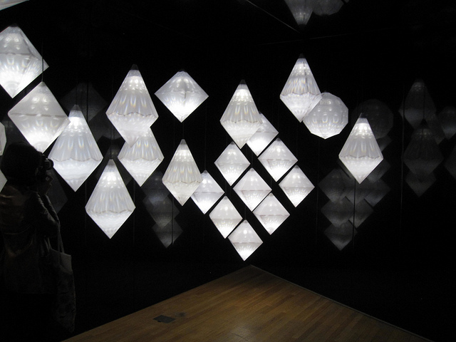 Amplify by Yves Behar, shimmering crystal-shaped lights