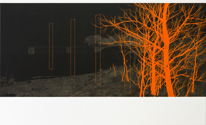 Andrew Mackenzie, Reservoir (Cadmium Orange), 2012. Courtesy Sarah Myerscough.
