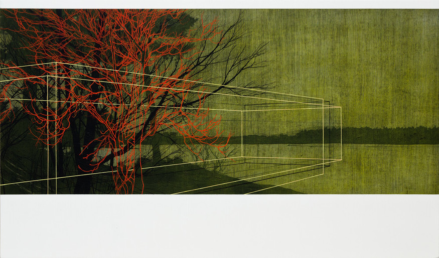 Andrew Mackenzie, Reservoir (Green), 2012. Courtesy Sarah Myerscough.