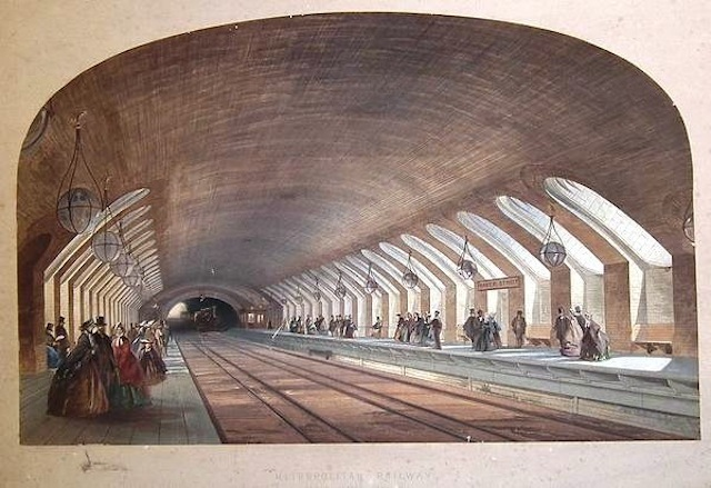 The 150th anniversary of the first underground railway in January 2013. Baker Street is shown here.