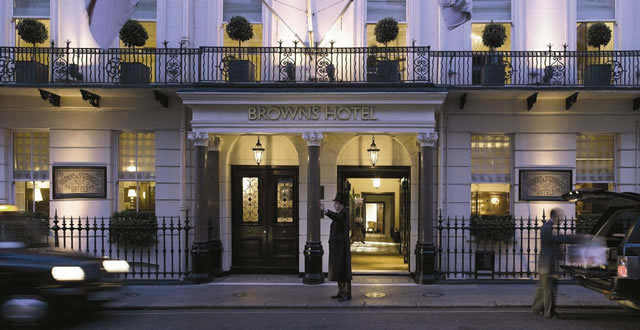 Browns, London's oldest hotel. In this picture you can clearly see it was formerly two separate houses
