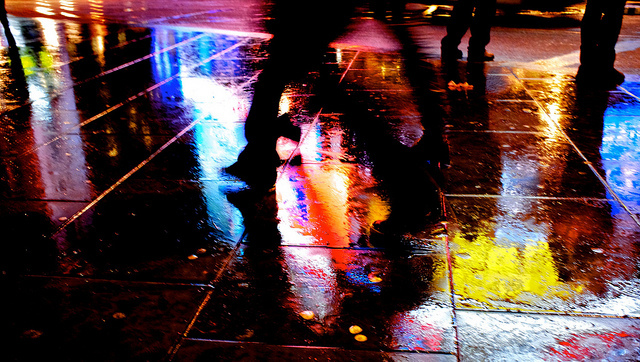 Reflected in the wet streets, by Julien Rath