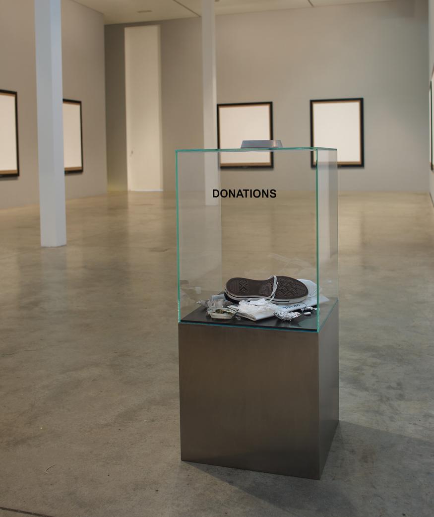 Elmgreen & Dragset Donation Box, 2006. Courtesy Victoria Miro