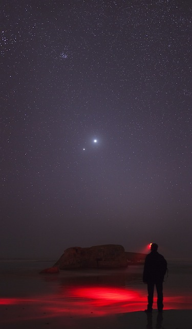 Laurent Laveder (France), Facing Venus-Jupiter Close Conjunction, winner of People and Space award.