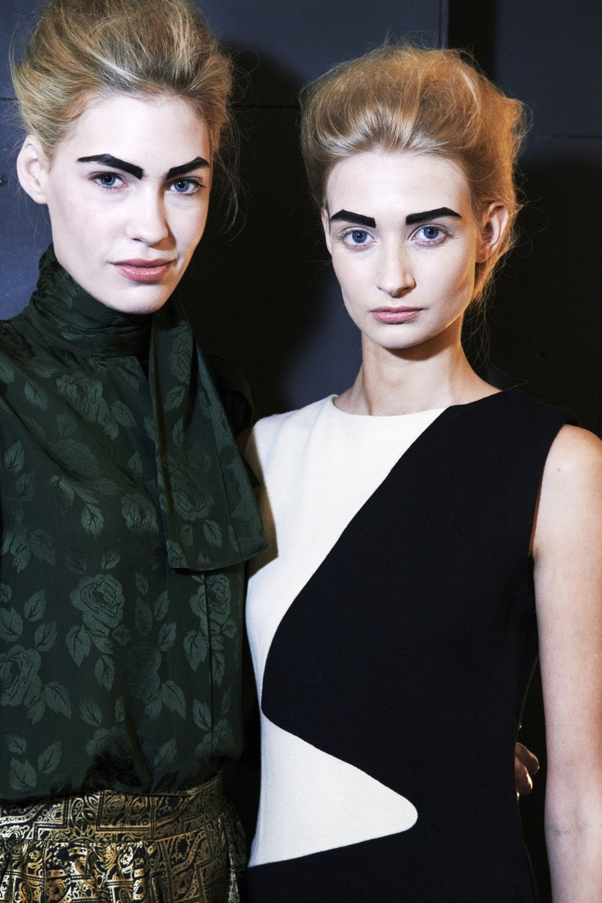 Models with magnificent eyebrows