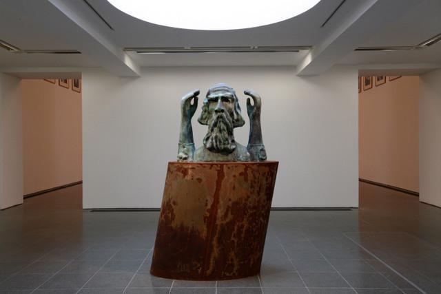 Thomas Schütte Memorial for unknown artist 2011 Installation view, Thomas Schütte: Faces & Figures Serpentine Gallery, London (25 September - 18 November 2012) © 2012 Gautier Deblonde