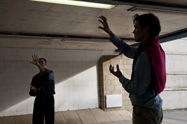Precast at the pedestrian subway underneath Blackwall DLR