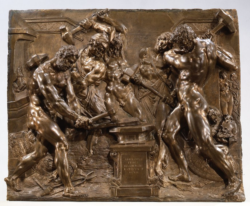 Key. 196  Adriaen de Vries, Vulcan's Forge, 1611  Bronze, 47 x 56.5 cm  Bayerisches Nationalmuseum, Munich  Photo Copyright Bayerisches Nationalmuseum, Walter Haberland