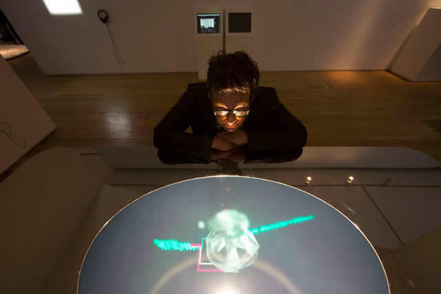 "Marcus Tremonto with his work ""HOLO Centre Table"" Photo © David Levene"
