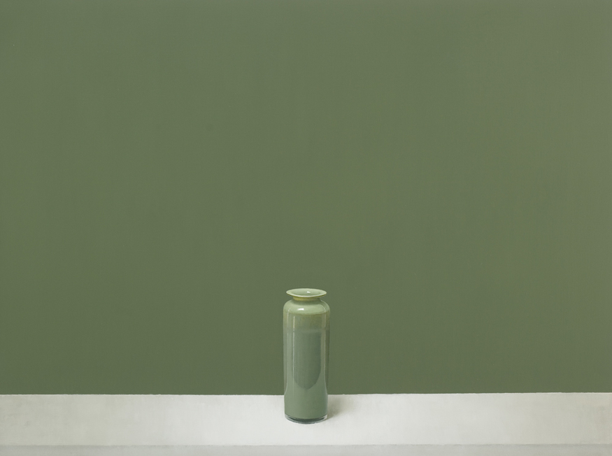 Paul Riley, Green Column. Courtesy Sarah Myerscough