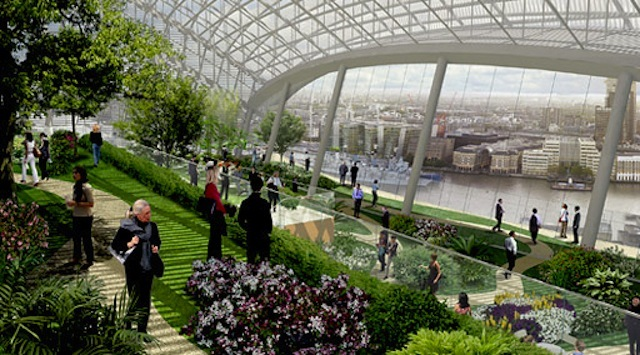 The roof garden of 20 Fenchurch Street. Ready in 2014.