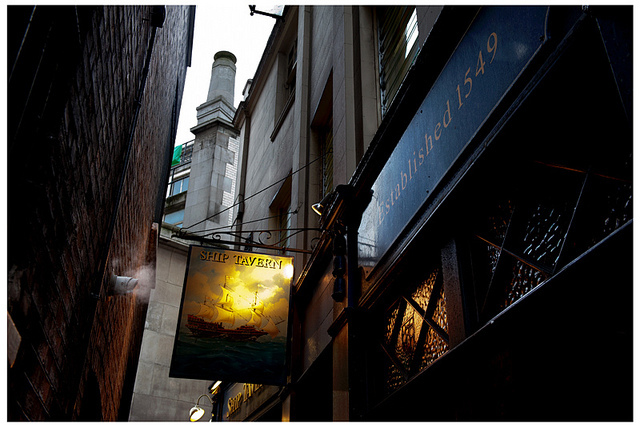 Old fashioned back-street pub sign, by bellybutton girl