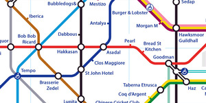 Alternative Tube Maps: London Restaurants