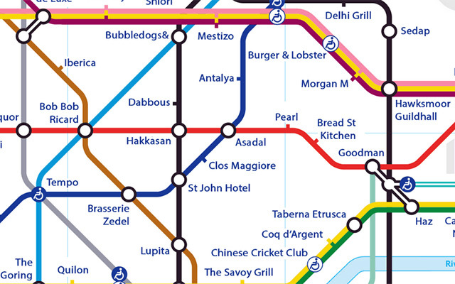 Alternative Tube Maps London Restaurants