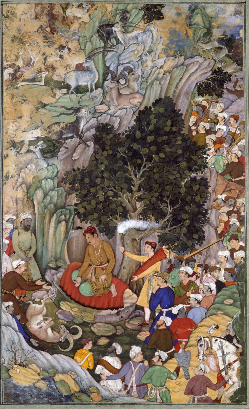 Akbar ordering the slaughter to cease in 1578 (c.1595). Artwork from Mughal India: Art, Culture and Empire (c) British Library Board