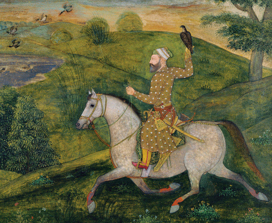 Allavardi Khan on horseback. Artwork from Mughal India: Art, Culture and Empire (c) British Library