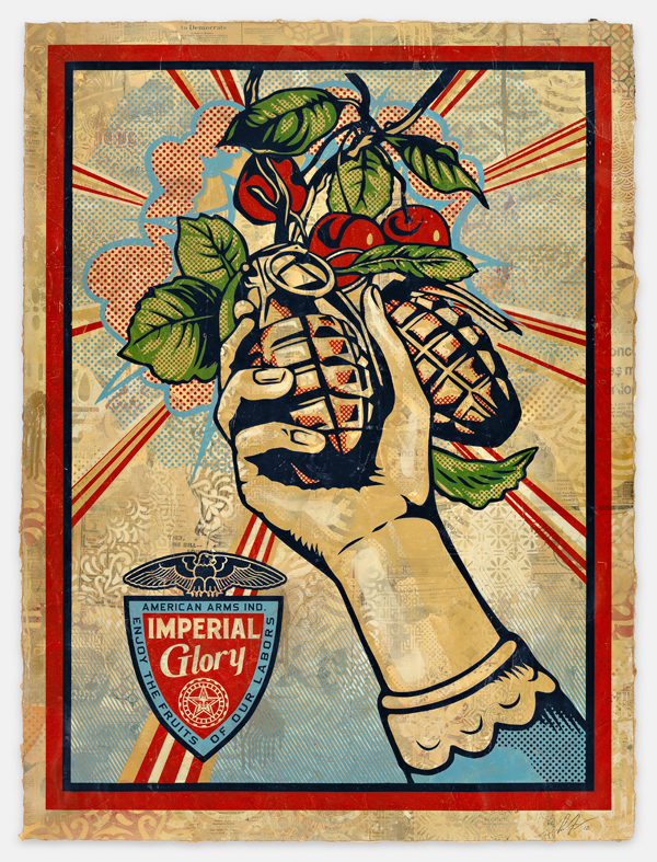 Shepard Fairey, Imperial Glory. Image courtesy of the artist.