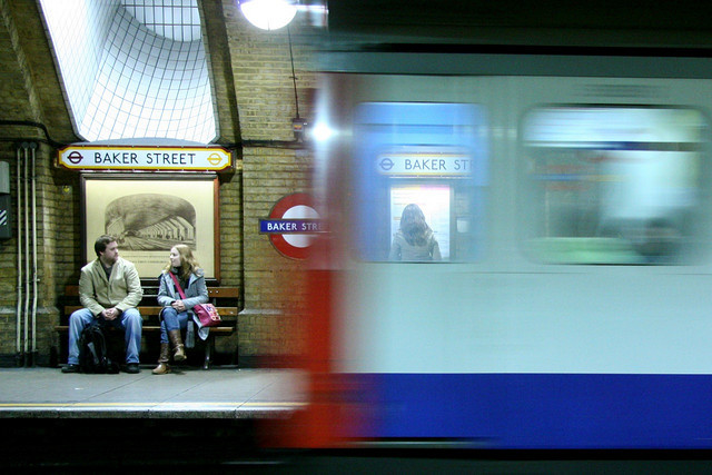 Baker Street, London's oldest tube station. Gorgeous photo by Simon Whitaker in the londonist flickrpool