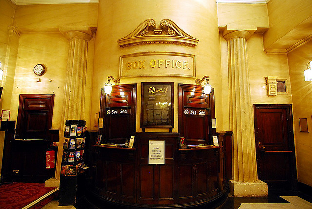 The Theatre Royal Drury Lane's beautiful box office. Photo by onixky