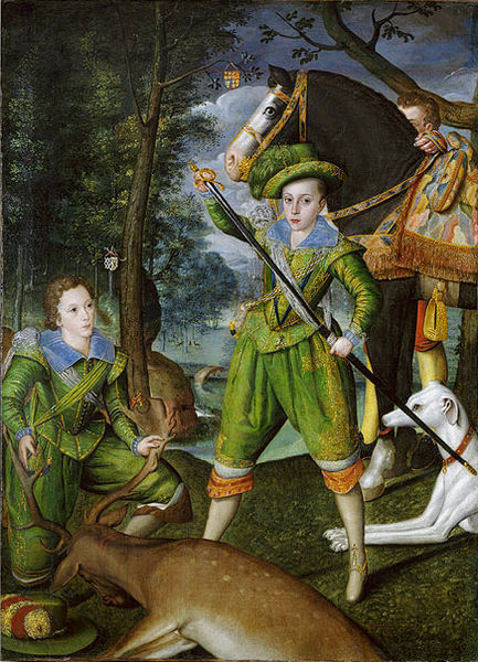 The boy who would be king. Prince Henry and Robert Devereux, 3rd Earl of Essex by Robert Peake, c 1605. The Royal Collection (c) HM Queen Elizabeth II 2012