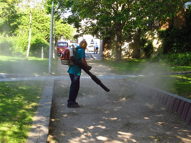 Leaf blower in Borough by psyxjaw