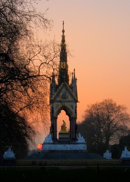 Albert Memorial sunset, by David Henderson