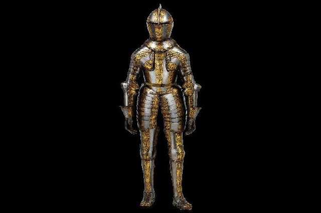 Teenage kicks: this armour is barely 5ft tall. Prince Henry's Armour, from circa 1608
