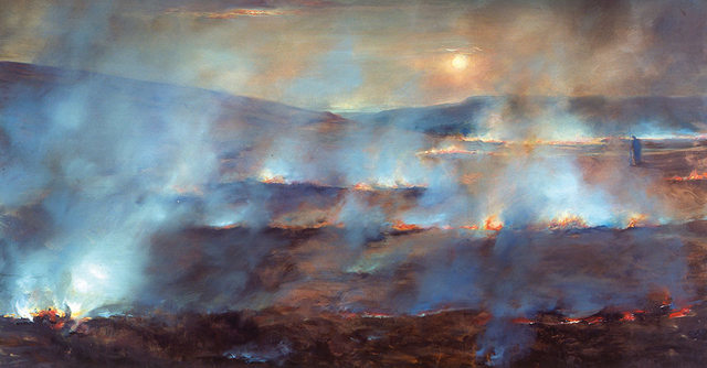 Paul Benney, Burning Moor. Copyright Paul Benney.