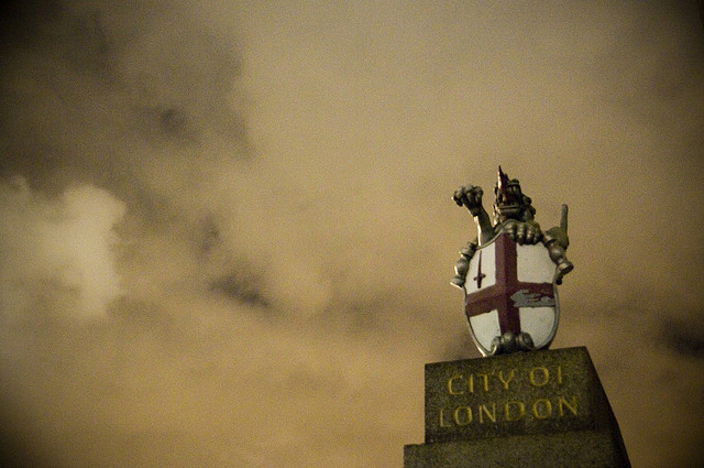 Storm clouds gather over the City of London, by Homemade