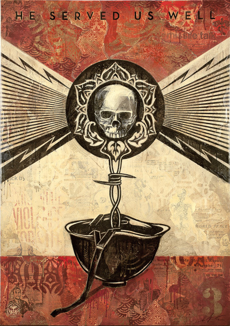 Shepard Fairey, Disposable Heroes. Image courtesy of the artist.