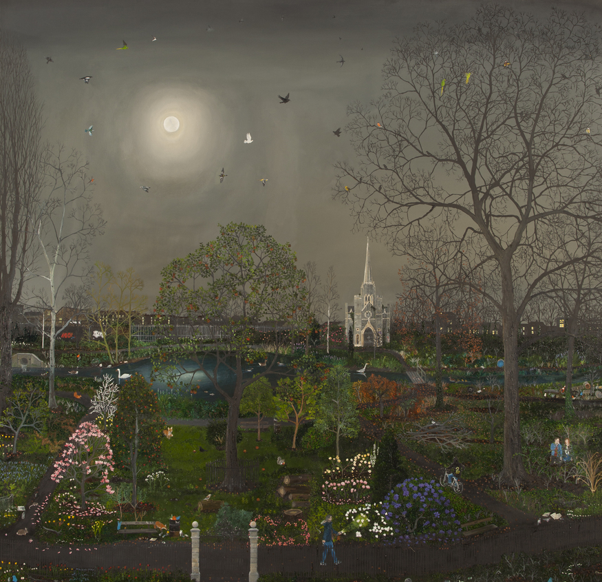 Emma Hwaorth, Garden in the East. Image courtesy of Rebecca Hossack Art Gallery.