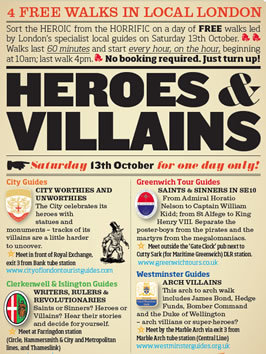 Heroes & Villains: Free Walks Led By Specialist Local Guides