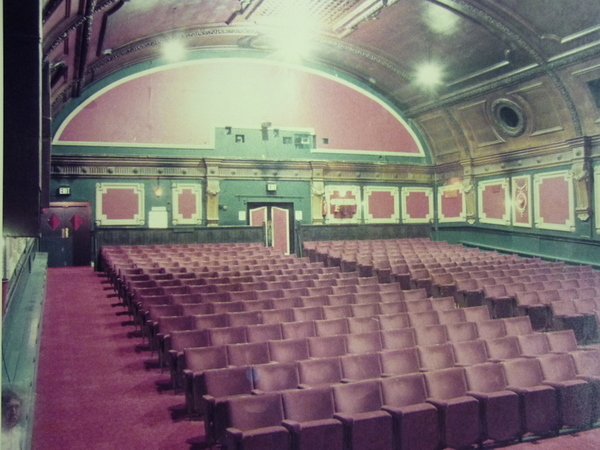 Interior of the Electric Cinema from 1983, after the Electric Cinema Club had a refurb in 1972, but before the £6 million refurb at the end of the 1990s