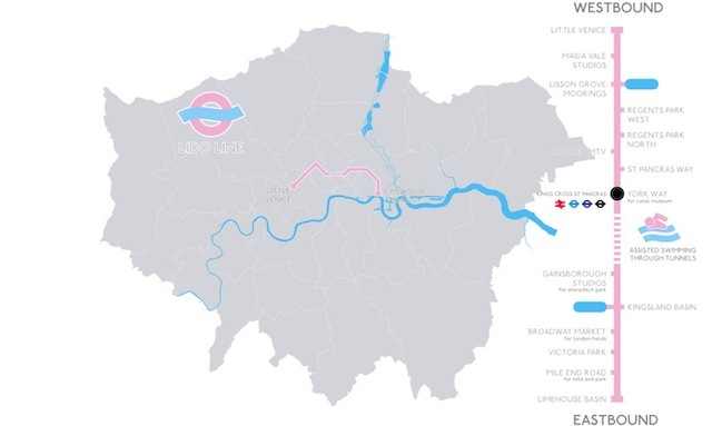 Map showing the route. We're not sure how the Islington Tunnel could ever be part of this.